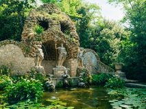 Fontein Neptunus in Trsteno-Arboretum royalty-vrije stock afbeelding