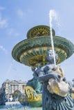 Fontein op Concorde Square in Parijs, Frankrijk Royalty-vrije Stock Afbeeldingen