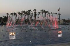 Fontein op Operaalgemene vergadering, Koeweit royalty-vrije stock fotografie