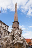 Fontein op Piazza della Rotonda, Rome, Italië Royalty-vrije Stock Foto
