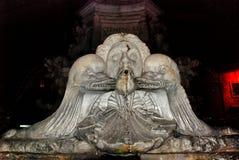 Fontein op Piazza della Rotonda in Rome, Italië royalty-vrije stock foto's