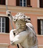 Fontein op Piazza Navona, Rome Stock Fotografie