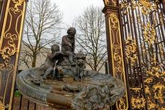 Fontein op Stanislas Place in Nancy stock foto