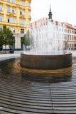Fontein op Vrijheidsvierkant (namesti Svobody), Brno stock foto