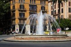 Fontein in Palma de Mallorca, Spanje Stock Fotografie