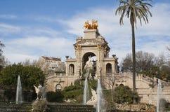 Fontein in Parc DE La Ciutadella, Barcelona Stock Foto