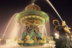 Fontein in Parijs Stock Afbeeldingen