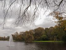 Fontein in park Stock Foto