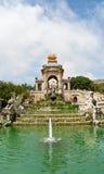 Fontein in park DE La Ciutadella Stock Foto