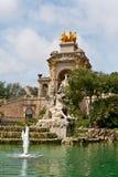 Fontein in park DE La Ciutadella Stock Afbeelding