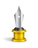 Fontein Pen Trophy Royalty-vrije Stock Afbeeldingen