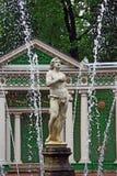 Fontein in Peterhof, St. Petersburg Royalty-vrije Stock Afbeelding