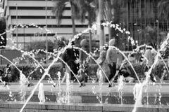 Fontein in Petronas stock foto's