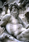 Fontein in Piazza Navonna, Rome Stock Afbeelding