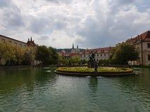 Fontein in Praag stock afbeeldingen