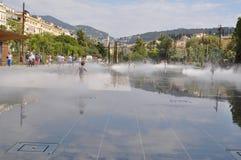 Fontein quare in Nice, Frankrijk Stock Foto