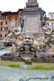 Fontein, Rome Stock Afbeelding