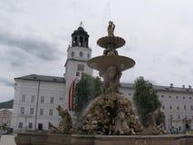 Fontein in Salzburg royalty-vrije stock afbeeldingen