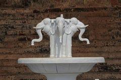 Fontein in Shri Shantadurga Temple, Fatarpekar, Goa, India Royalty-vrije Stock Fotografie
