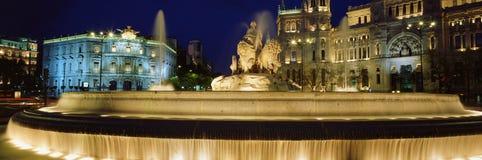 Fontein van Cibeles, Madrid, Spanje Stock Afbeelding