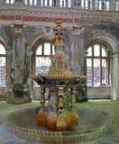 Fontein van de 19de eeuw - Baile Herculane - Roemenië stock foto's