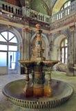 Fontein van de 19de eeuw - Baile Herculane - Roemenië stock afbeeldingen