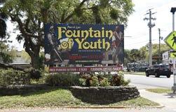 Fontein van de Jeugd Archeologisch Park, Heilige Augustine, Florida royalty-vrije stock afbeelding
