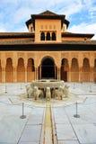 Fontein van de Leeuwen, Paleis van Alhambra, Granada, Andalusia, Spanje royalty-vrije stock fotografie
