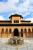 Fontein van de Leeuwen, Paleis van Alhambra, Granada, Andalusia, Spanje royalty-vrije stock afbeelding