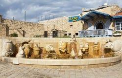 Fontein van dierenriemtekens in Jaffa, Tel Aviv Royalty-vrije Stock Afbeelding