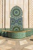 Fontein van Hassan II moskee Royalty-vrije Stock Fotografie