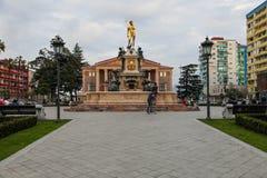 Fontein van Neptunus in Batumi, Georgië. royalty-vrije stock foto