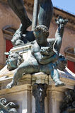 Fontein van Neptunus. Bologna. Emilia-Romagna. Italië. Royalty-vrije Stock Afbeeldingen