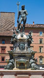 Fontein van Neptunus. Bologna. Emilia-Romagna. Italië. Royalty-vrije Stock Foto's
