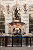 Fontein van Neptunus in oude stad van Gdansk Stock Fotografie