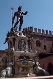 Fontein van Neptunus, piazza Nettuno, Bologna, Italië Stock Foto's