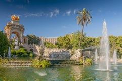 Fontein van Parc DE La Ciutadella in Barcelona, Spanje stock foto's