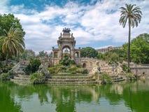 Fontein van Parc DE La Ciutadella, in Barcelona, Spanje Royalty-vrije Stock Foto