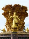 Fontein van Vriendschap van volkeren, Moskou royalty-vrije stock foto