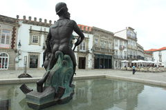 Fontein in Viana do Castelo Stock Fotografie