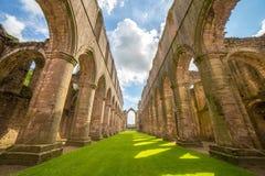 Fonteinen Abbey North Yorkshire royalty-vrije stock afbeelding