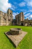 Fonteinen Abbey North Yorkshire stock afbeelding