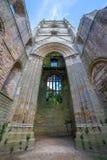 Fonteinen Abbey North Yorkshire stock foto's