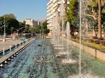 Fonteinen in Antalya, Turkije Royalty-vrije Stock Foto's