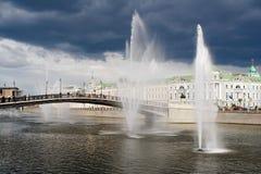 Fonteinen in het kanaal Royalty-vrije Stock Afbeelding