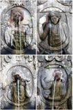 Fonteinen van heiligdom Bom Jesus do Monte, Braga Stock Fotografie