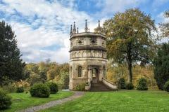 Fonteinenabdij en Koninklijke het Watertuin van Studley Stock Foto's