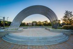 Fonteinpark, in de Rotsheuvel van de binnenstad, Zuid-Carolina Stock Foto