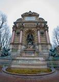 Fonteinsaint michel in Parijs, Frankrijk Royalty-vrije Stock Afbeeldingen