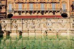 Fonten Gaia - Siena Toscana Italy Royaltyfri Fotografi